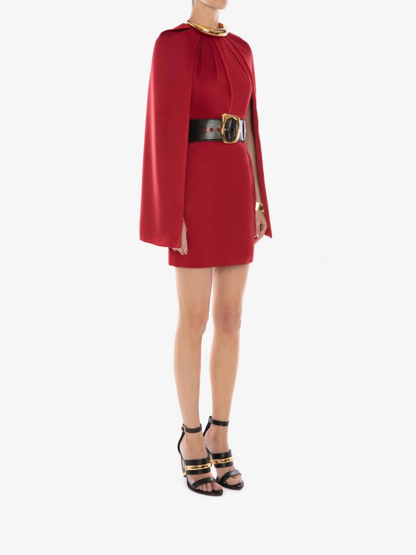 Cape Sleeve Mini Dress