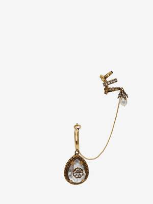 Charm Seal Droplet Ear cuff