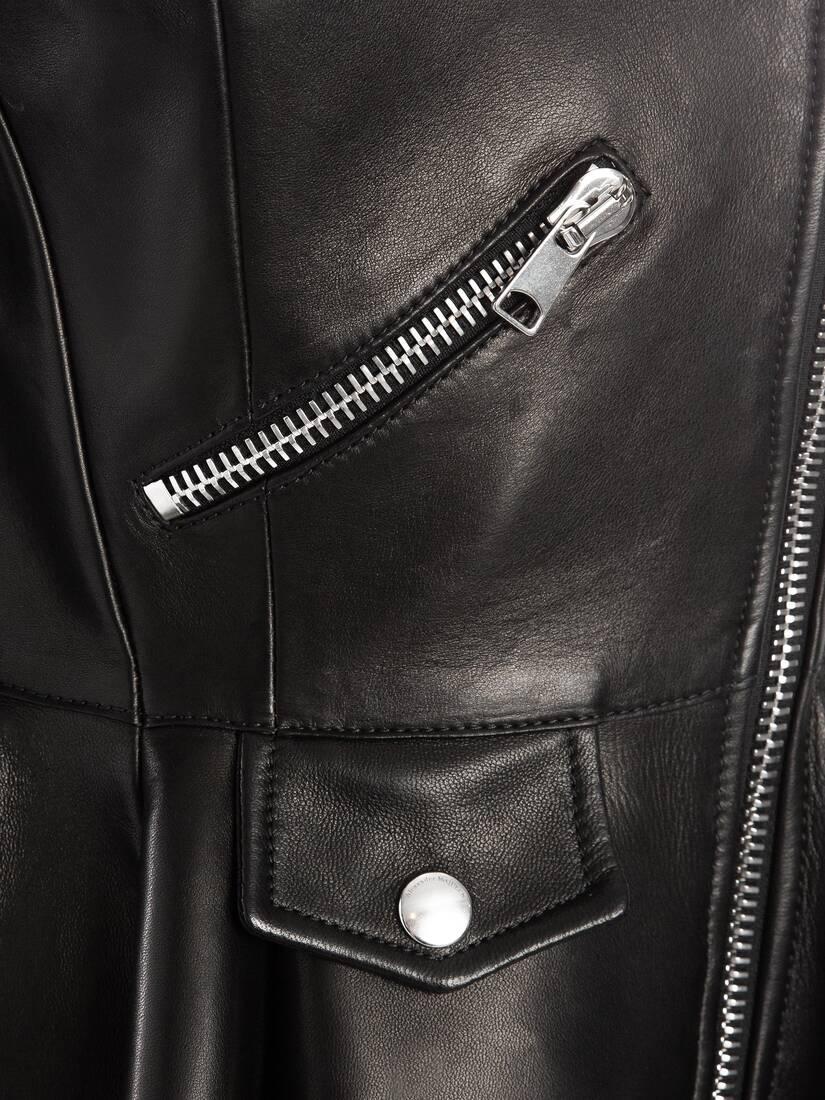 大きな製品イメージを表示する 5 - バイカラー レザー バイカージャケット