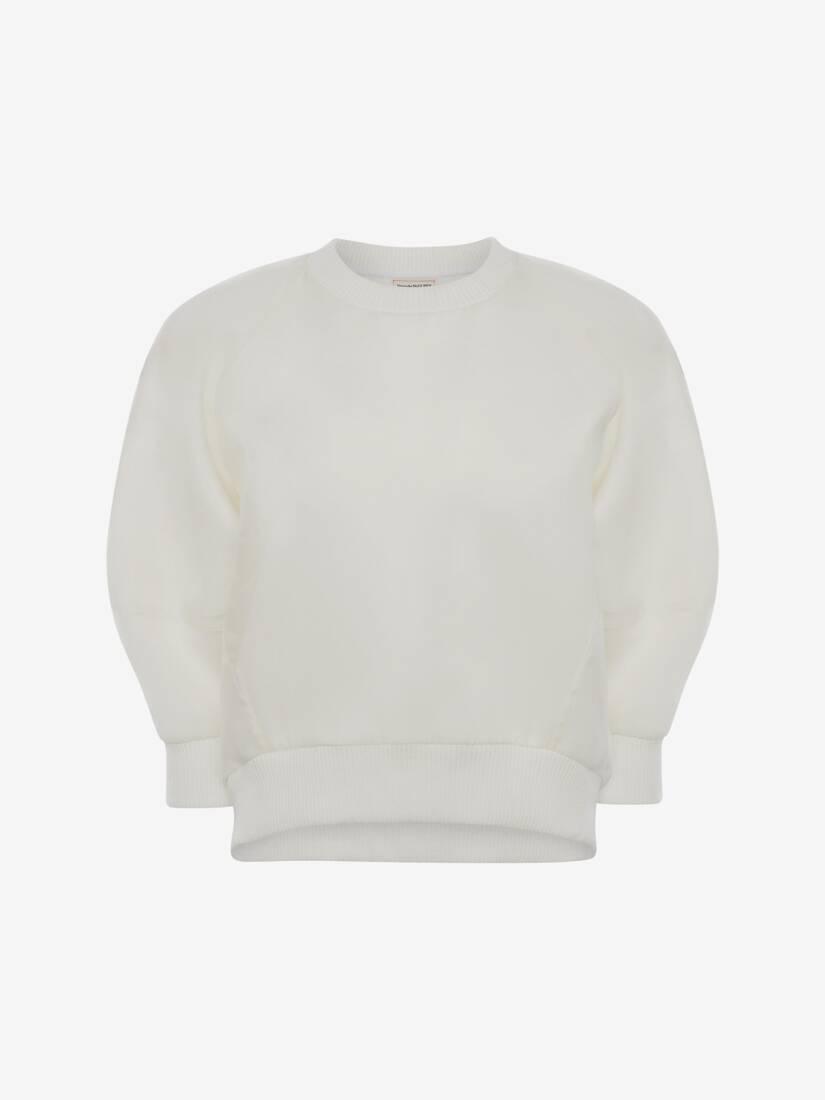 Sweat-shirt avec surcouche en organza