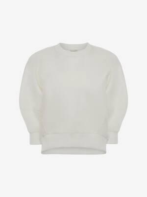 Organza Overlay Sweatshirt