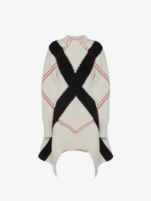 Exploded Argyle Knit Jumper