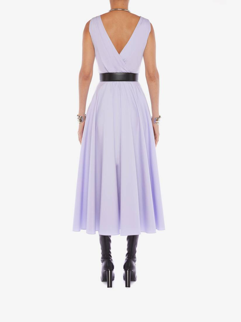 Display a large version of the product image 4 - Cotton Poplin Drape Midi Dress