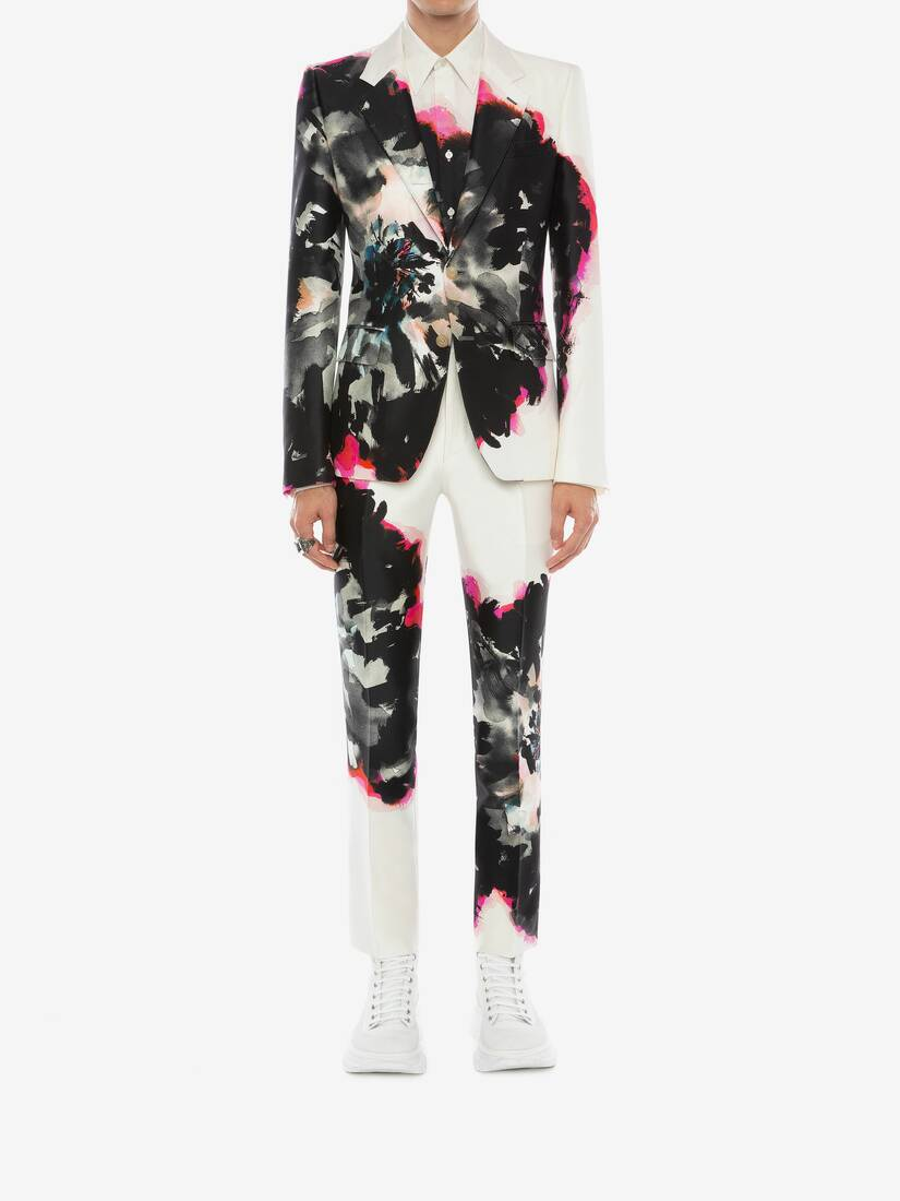 Display a large version of the product image 2 - Ink Floral Trousers