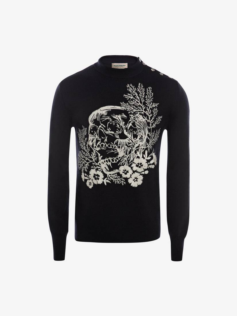 Display a large version of the product image 1 - Ivy Skull Crew Neck Jumper