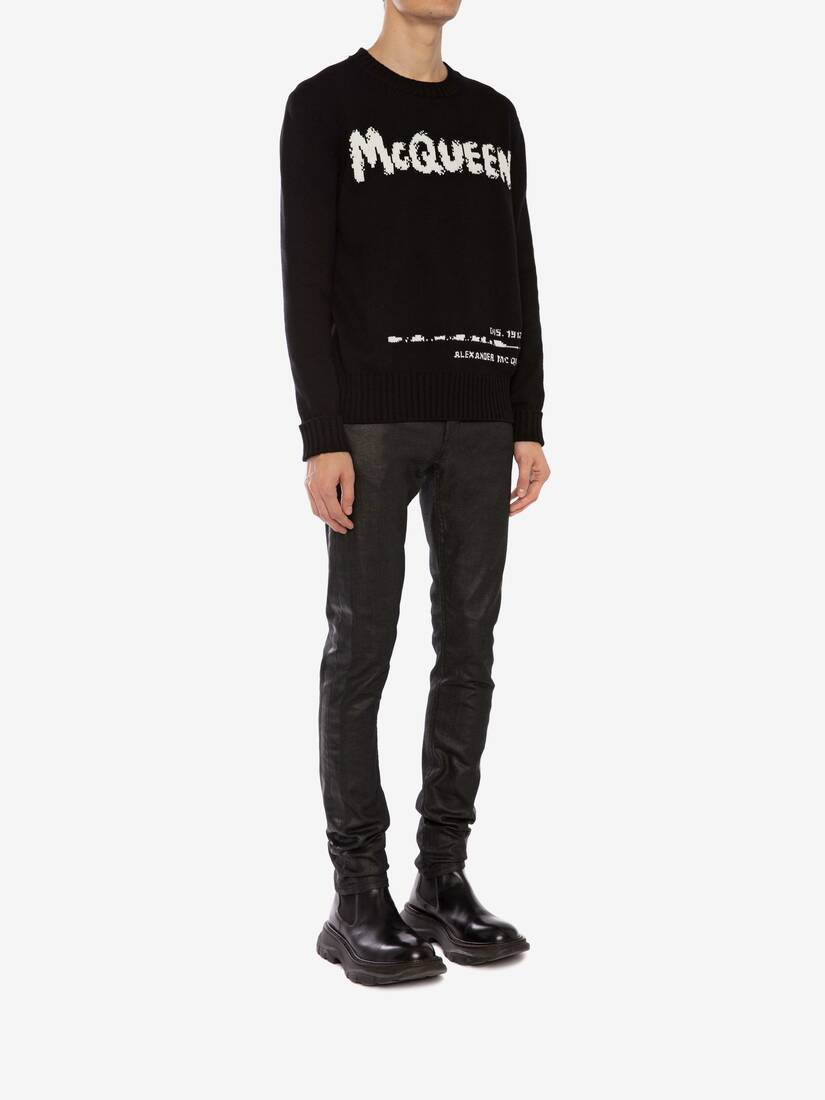 Display a large version of the product image 3 - McQueen Graffiti Crew Neck Jumper