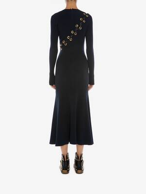 Eyelet Knitted Midi Dress