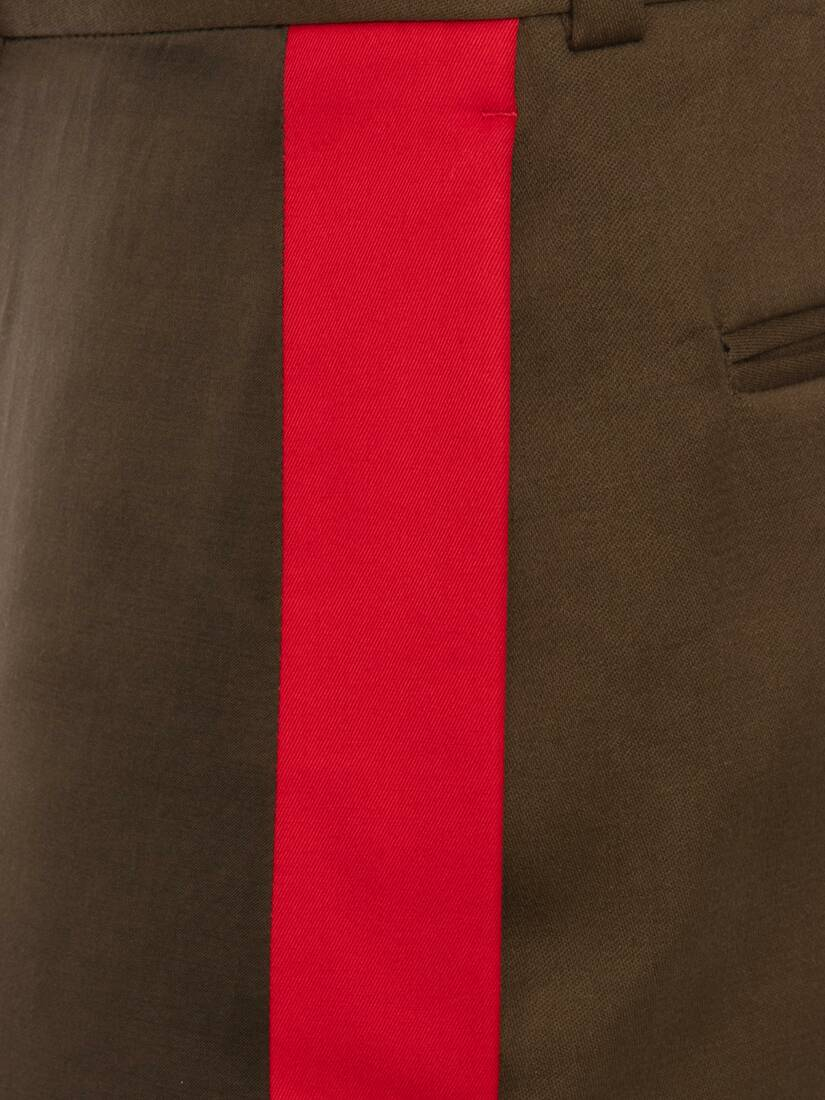 Display a large version of the product image 5 - Tailored Panelled Sateen Trousers