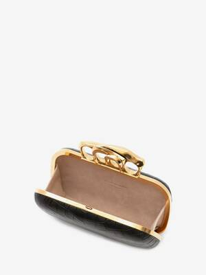 Sculptural Four-Ring Box Clutch