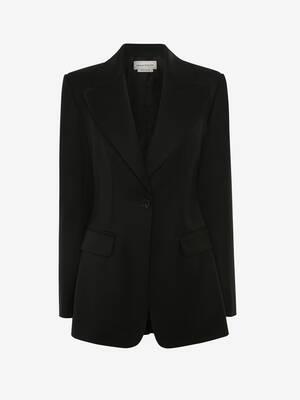 실버 메탈 아일렛 재킷