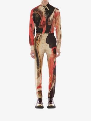 Henry Moore Printed Silk Poplin Shirt