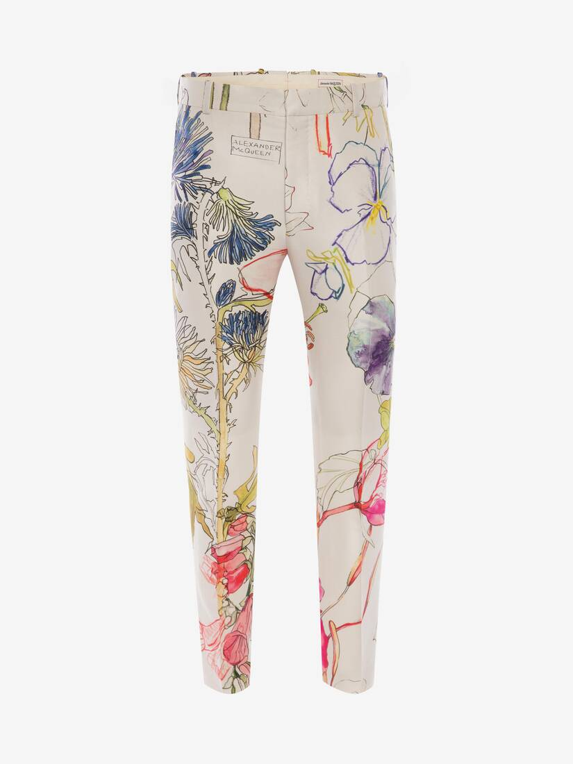 Display a large version of the product image 1 - Deconstructed Floral Trousers