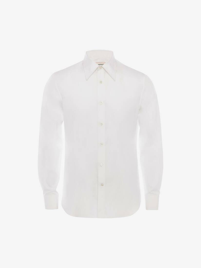 Pointy Collar Cotton Poplin Shirt