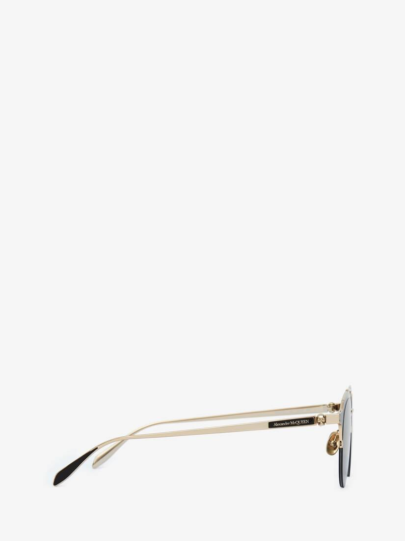 Display a large version of the product image 2 - Panthos-Sonnenbrille aus Metall mit Skull