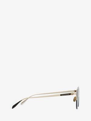 Skull Panthos Metal Sunglasses