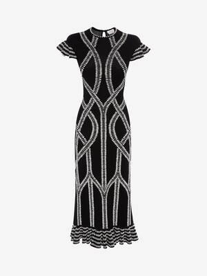 Bi-Colour Jacquard knit Dress