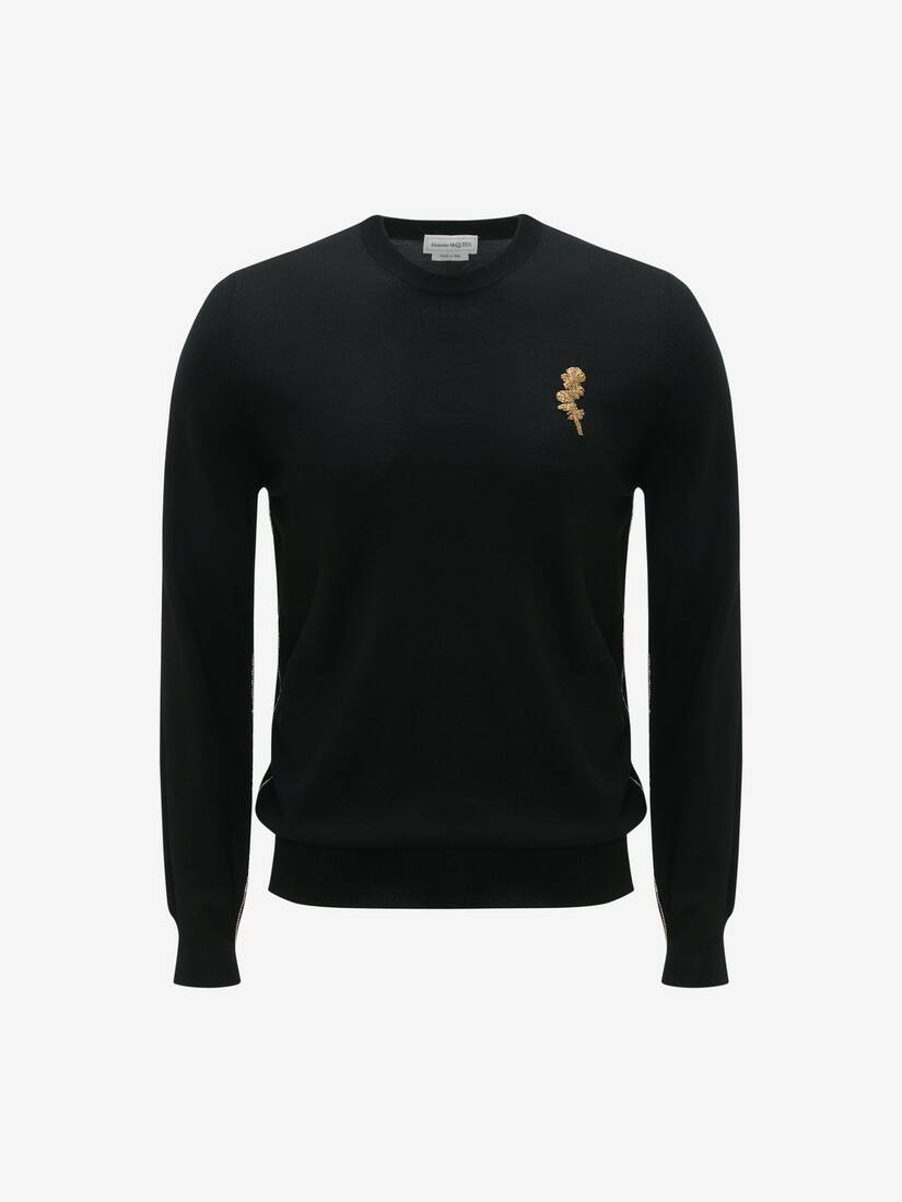 Gold Thistle Emboidered Jumper
