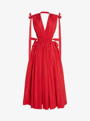 Drawstring Ribbon Tie Dress