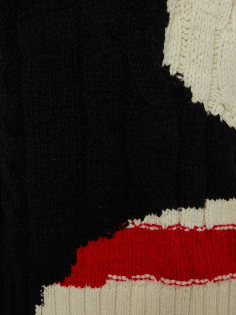 Display a large version of the product image 5 - Ink Bleeding Intarsia Sweater