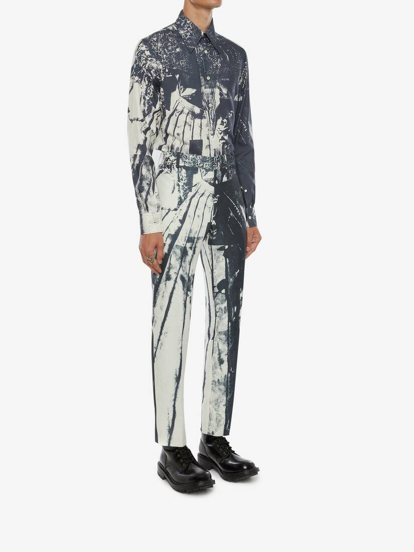 Display a large version of the product image 4 - Trompe-l'œil Printed Cigarette Trousers