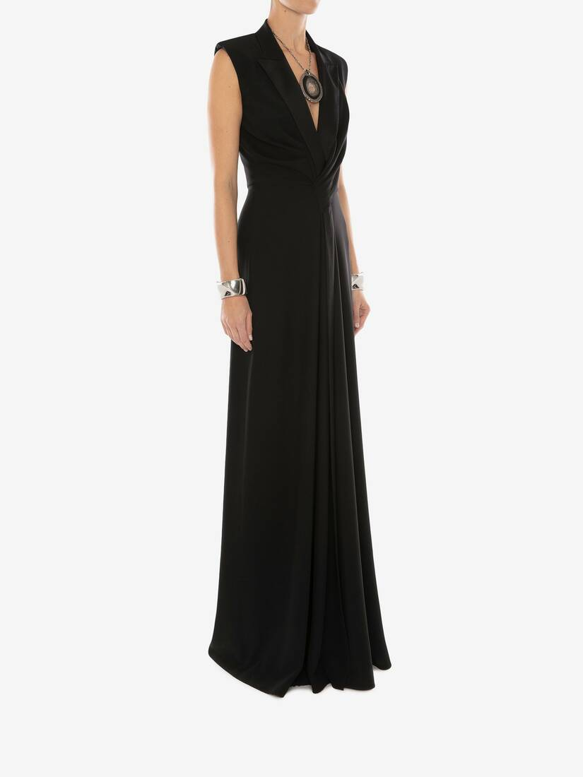 Display a large version of the product image 3 - Tuxedo Drape Evening Dress