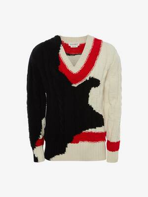 Ink Bleeding Intarsia Jumper