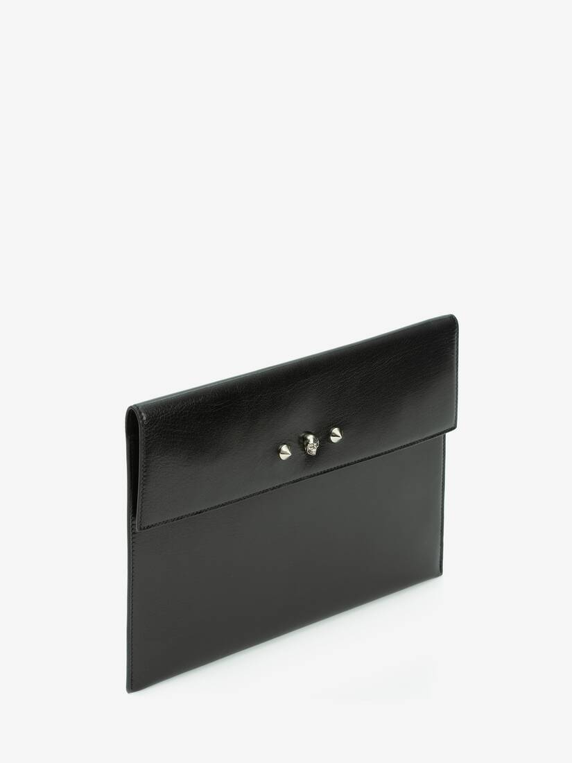 Skull and Stud Envelope Clutch