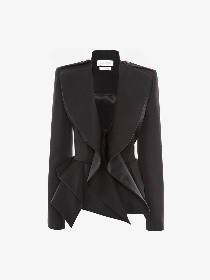 Display a large version of the product image 1 - Draped Peplum Jacket