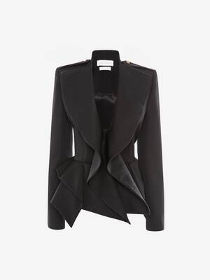 Draped Peplum Jacket