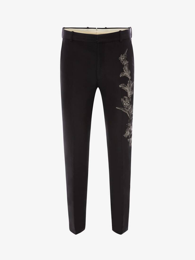 Display a large version of the product image 1 - Floral Sash Jacquard Trousers