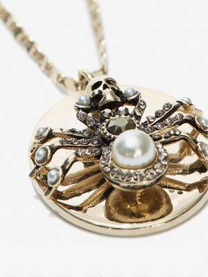 Double-Wrap Spider Necklace