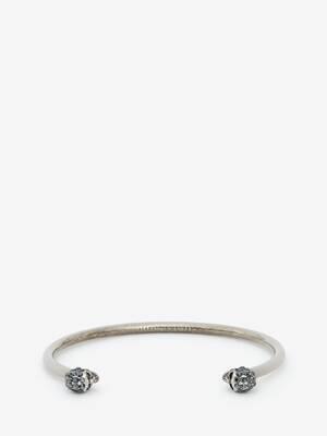 Fin bracelet twin skull