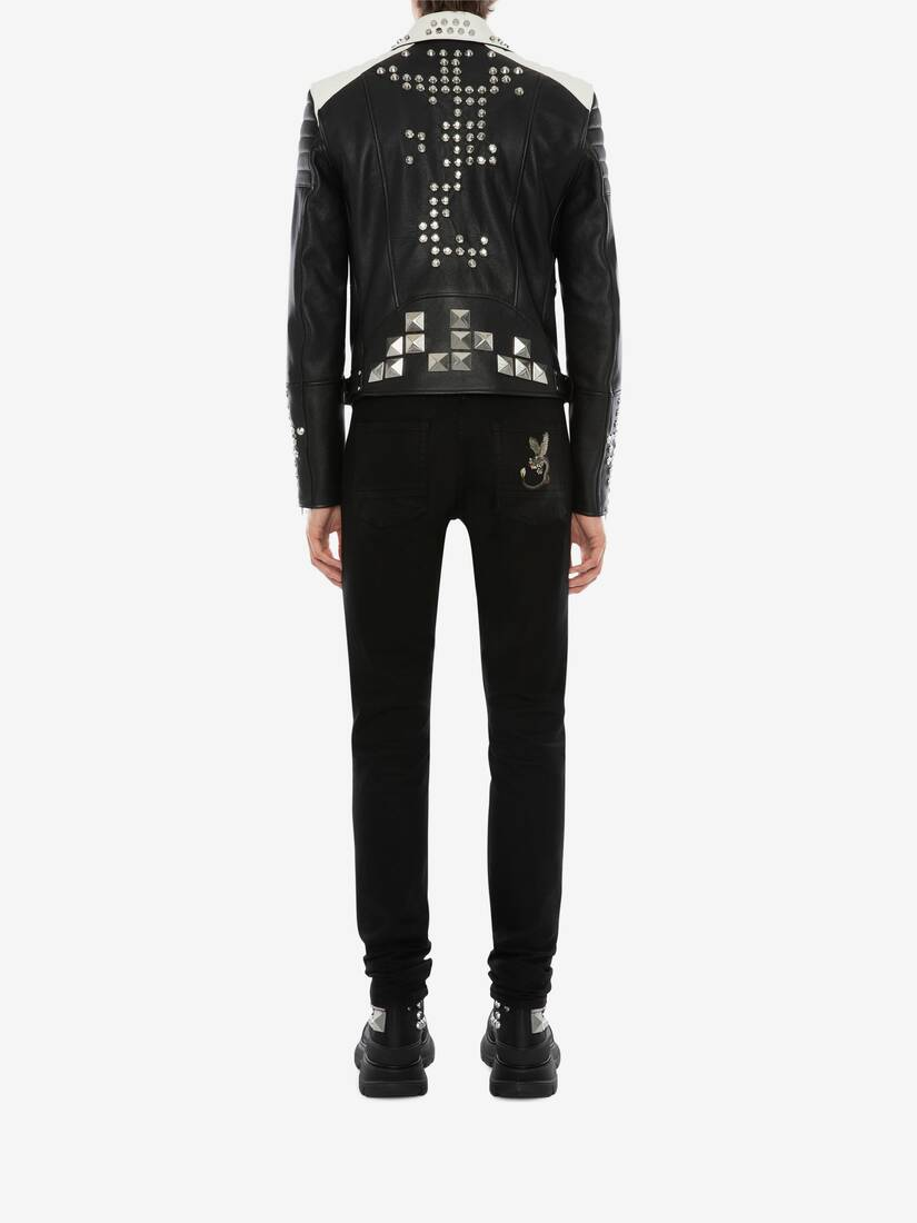 Display a large version of the product image 5 - Studded Leather Biker Jacket