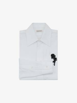 Jet Thistle Embroidered Shirt