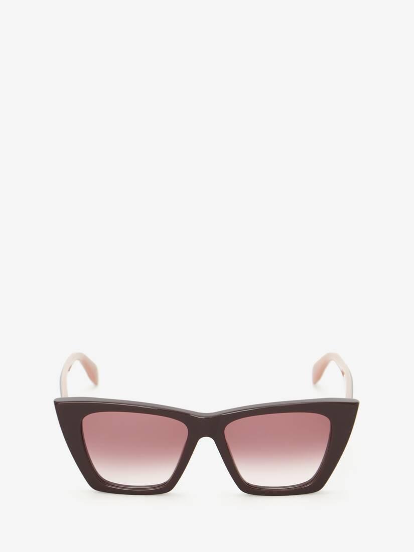 Katzenaugen-Sonnenbrille mit Webkante