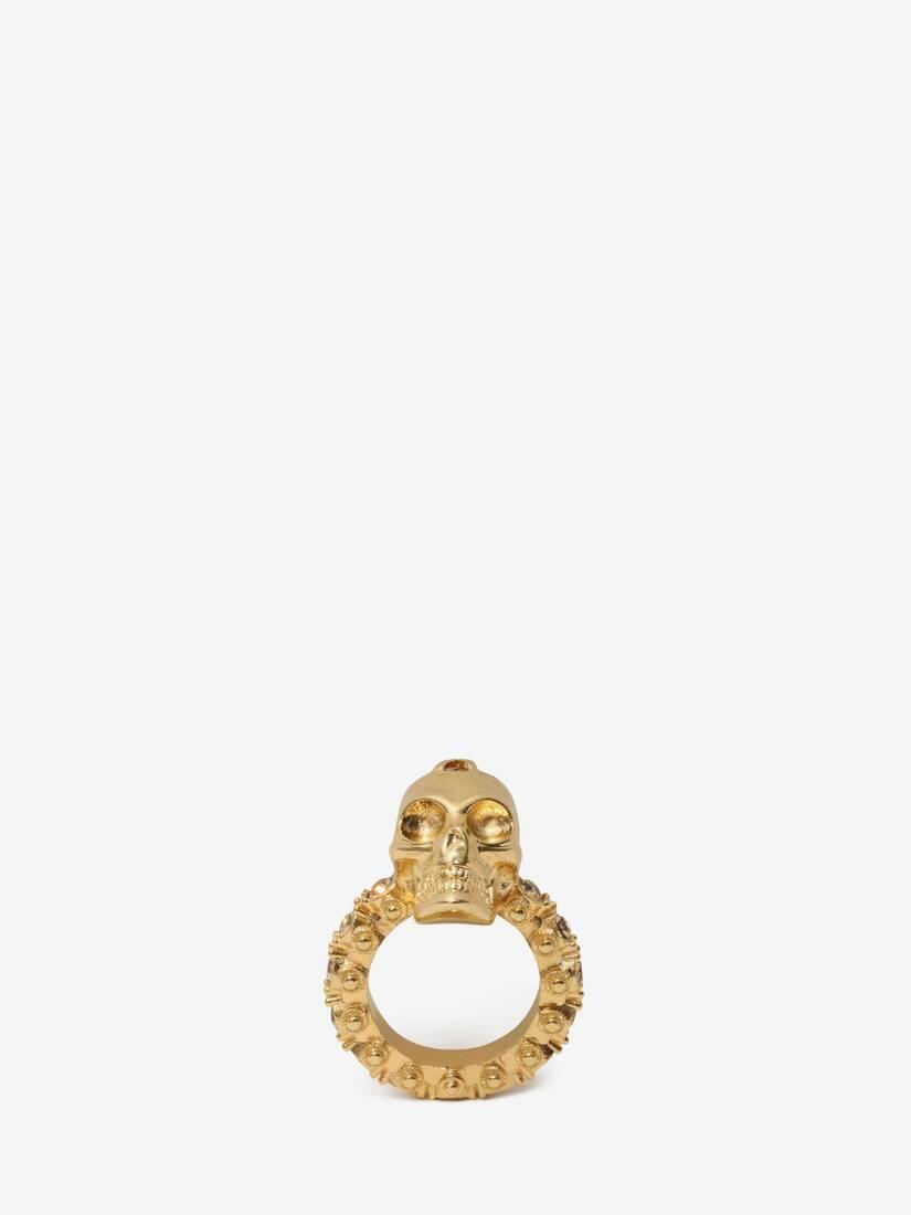 Jewelled Skull Ring