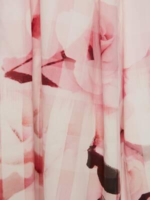 Midikleid mit rosa Karomuster