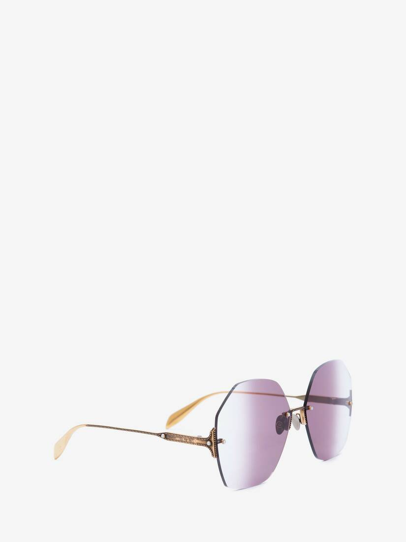 Display a large version of the product image 3 - Jeweled Hexagonal Sunglasses