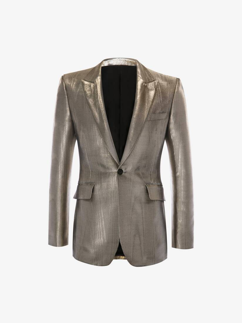 Display a large version of the product image 1 - Metallic Moiré Tuxedo Jacket