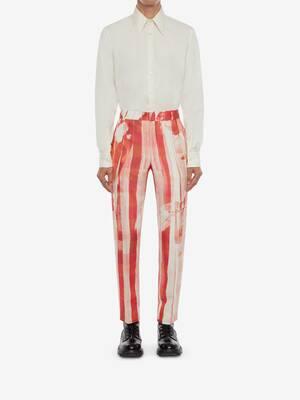 Trompe-l'œil Printed Cigarette Trousers