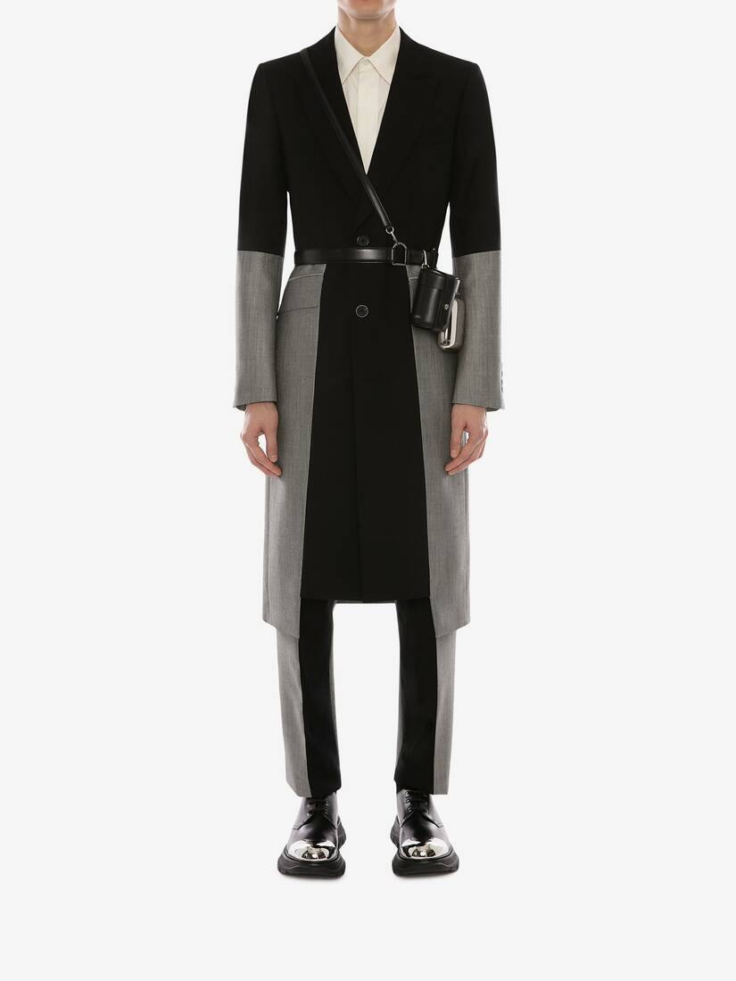 Display a large version of the product image 2 - Panelled Trompe L'œil Tailored Coat