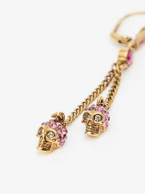 Boucles d'oreilles chaîne Skull
