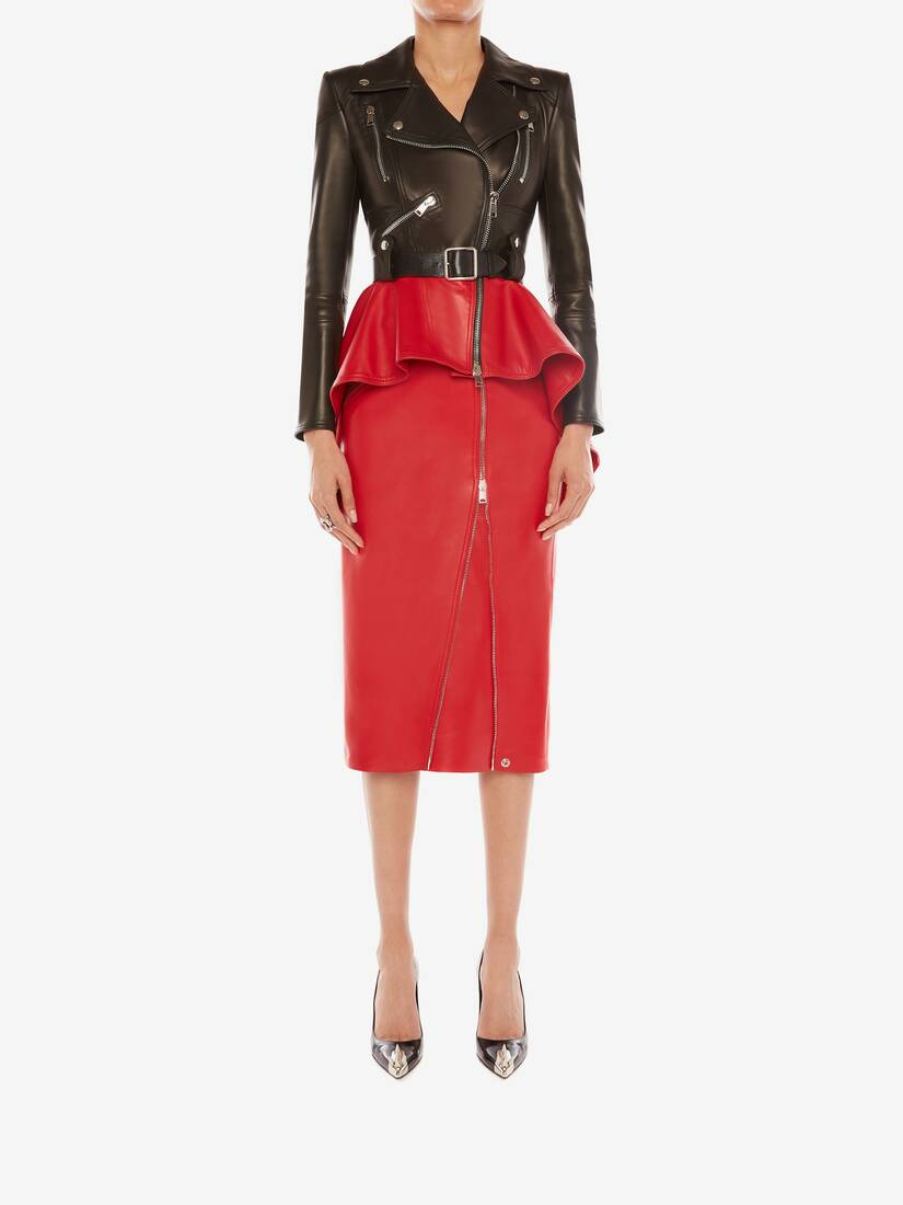 Display a large version of the product image 2 - Leather Pencil Skirt