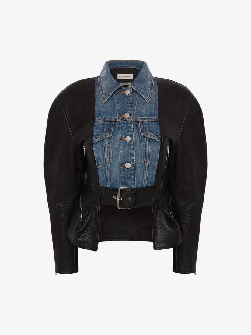 Hybrid Leather Biker Jacket