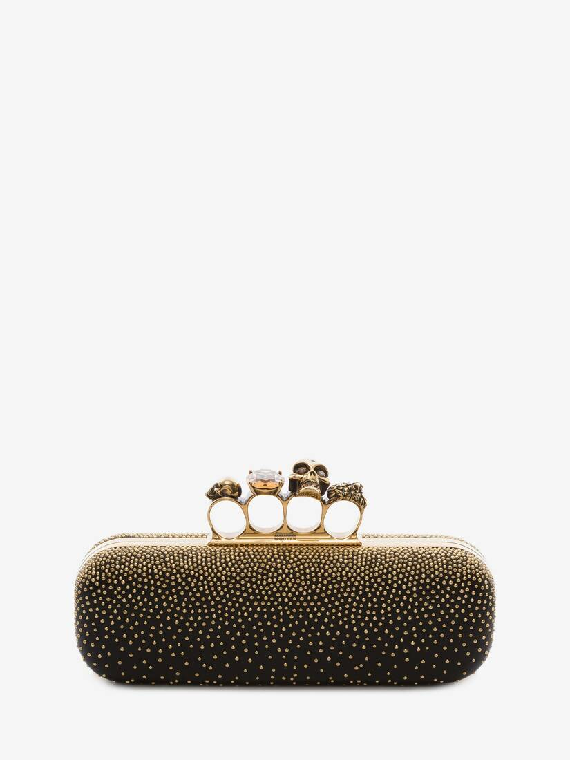 Display a large version of the product image 1 - Studded Four Ring Clutch