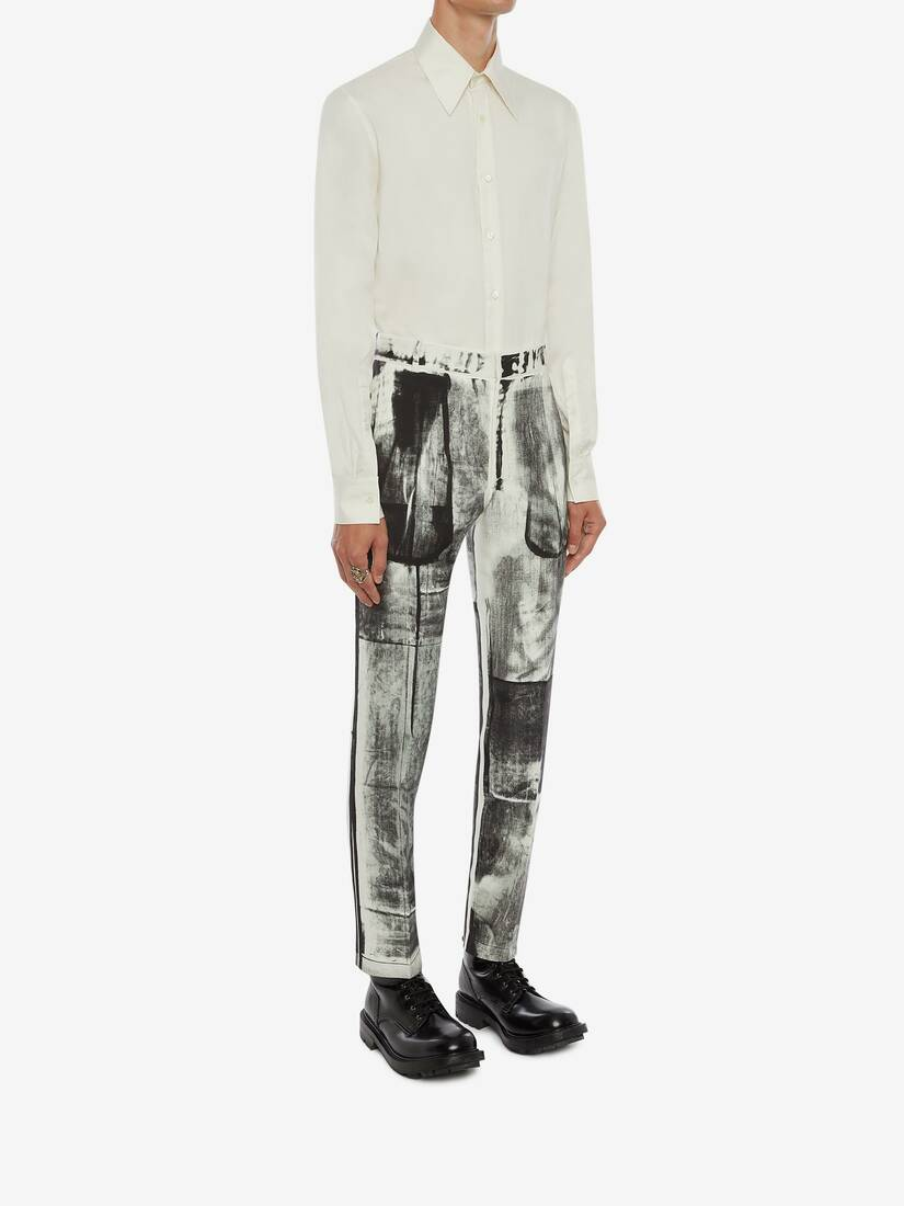 X-Ray Printed Cigarette Trousers