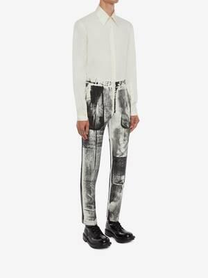 Pantaloni a Sigaretta con Stampa X-Ray