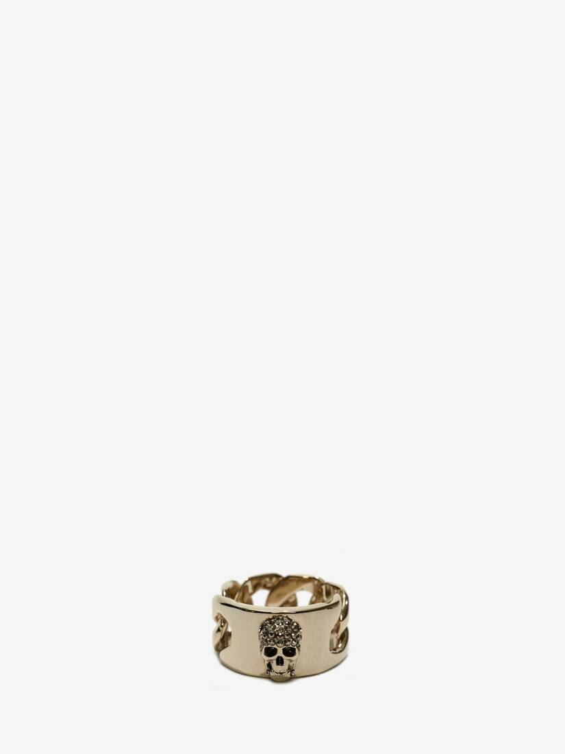 Display a large version of the product image 3 - Chain Skull Ring