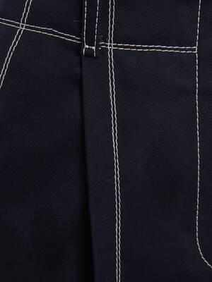 Jupe-culotte en gabardine de coton