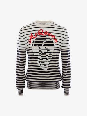 Stripe Skull Sweater